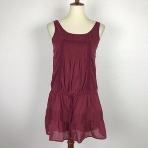 Abercrombie & Fitch Pleated Crochet Tunic Top